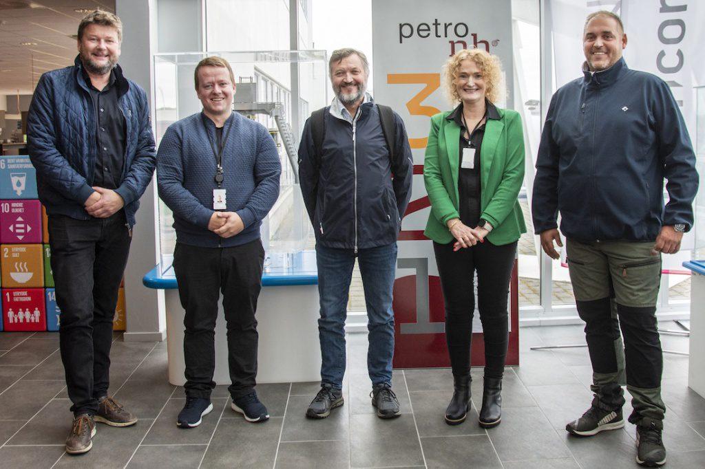 Kenneth Eriksen (Serit Helgeland), Joakim Kristiansen (Sentrum Næringshage), Geir Frode Risa (Aker Solutions), Ann Merete Brevik (Sentrums Næringshage) og Robert Myrvang (Testpartner)